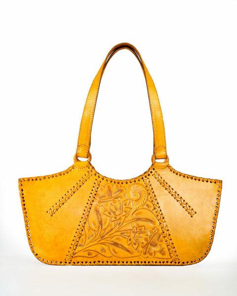 golden brown shoulder bag