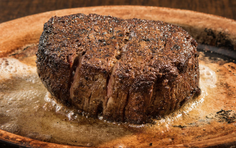 Food photography - Amazing steak on bronze plate by Jeff Behm Photography in Frederick MD