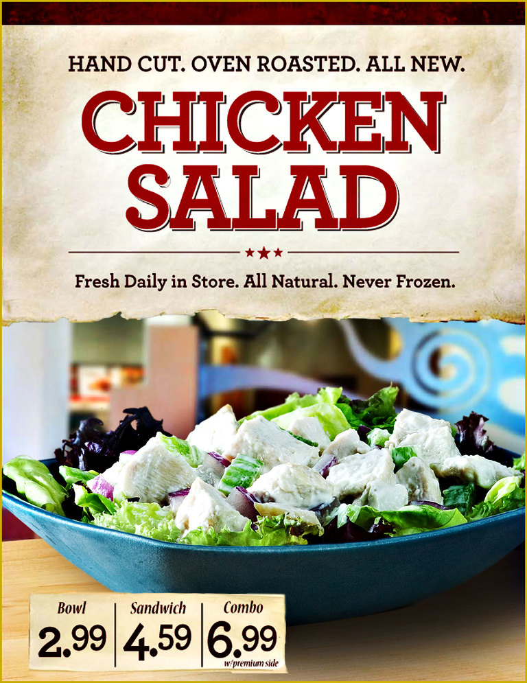 For your diet conscious dining, a lovely chicken salad